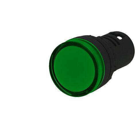 Voyant lumineux monobloc à LED IMO 230VAC Ø22mm vert