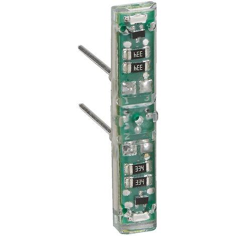 """main image of """"Voyant lumineux Mosaic 230V - Pour poussoir et interrupteur - Composable - Blanc - Legrand"""""""