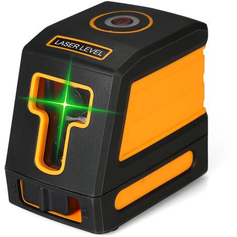 Voyant vert Indicateur de niveau laser ¨¤ 2 lignes Roulette en croix sans batterie T02