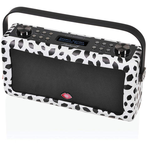 VQ Hepburn MKII Portable DAB+ FM Radio Bluetooth Speaker Lulu Guinness Black Lip