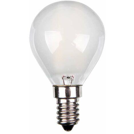 Bombilla led E14 Filamento Frost Cover P45 4W 300° Temperatura de color - 6000k Blanco frío