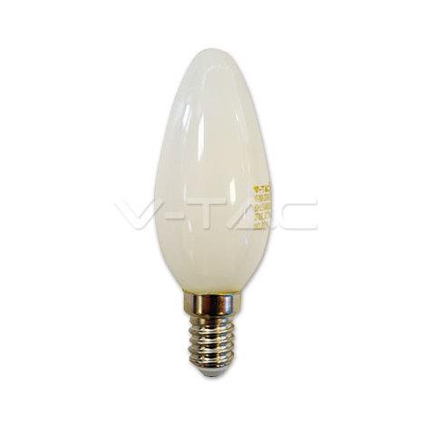 VT-1924 bombilla de luz LED E14 4W FILAMENTO mate blanco caliente A vela VT-1924-1
