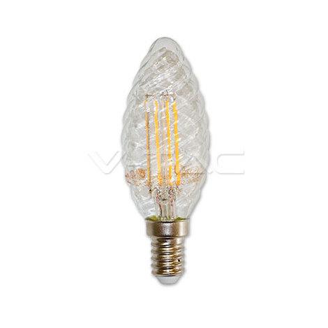 VT-1985 bombilla de luz LED E14 4W FILAMENTO blanco caliente A espiral VT-1985