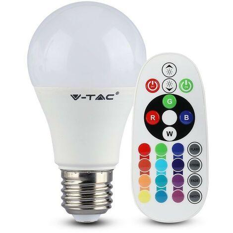 VT-2022 ampoule LED E27 6W blanc chaud multi couleur RGB VT-2022-1