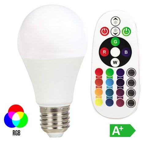 VT-2022 bombilla de luz LED E27 6W blanco caliente multicolor RGB VT-2022-1