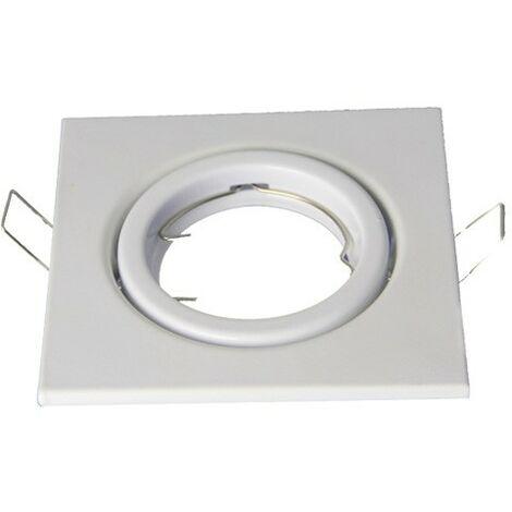 VTAC - Aro empotrable ECO para bombilla cuadrado basculante blanco