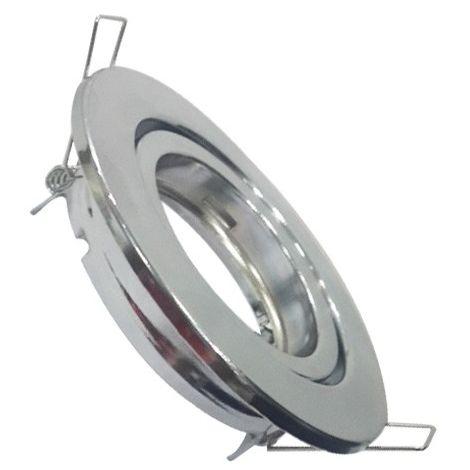 VTAC - Aro empotrable para bombilla escayola circular. Acabado blanco