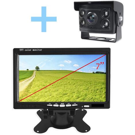 """Vue arrière et marche arrière Yatek pour tous les types de véhicules, écran 7"""" au choix en deux couleurs, comprend une caméra à 170º degrés angulaires avec vision nocturne."""