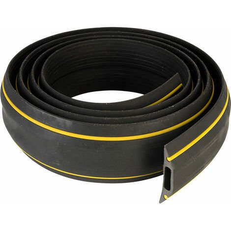 Vulcascot HAZ/2 3M Warning Cable Protector Black/Yellow 3m - Width 83mm