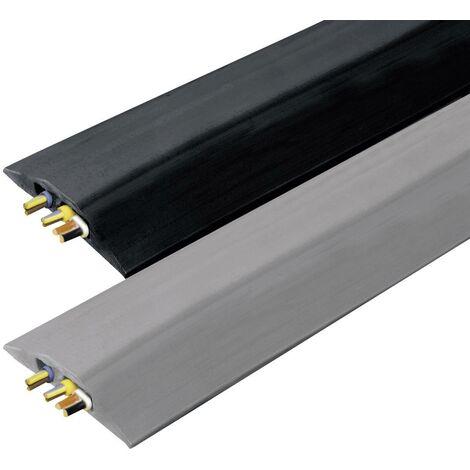 Vulcascot Protège-câbles VUS-007 caoutchouc noir Nombre de canaux: 2 3000 mm Contenu: 1 pc(s) S19236