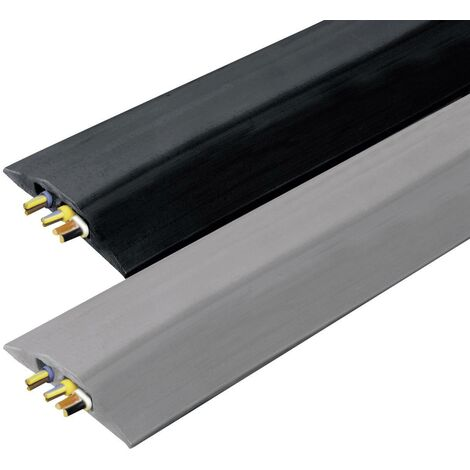 Vulcascot Protège-câbles VUS-008 caoutchouc gris Nombre de canaux: 2 3000 mm Contenu: 1 pc(s) S19230