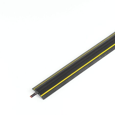 Vulcascot Warning Profile HAZ/1 9MBLK/YLW Cable Protector