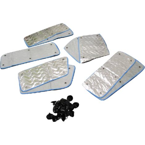 VW Thermal Window Blind 8Pc Kit (Internal Insulated Transporter T2 Motorhome Windscreen Cover)