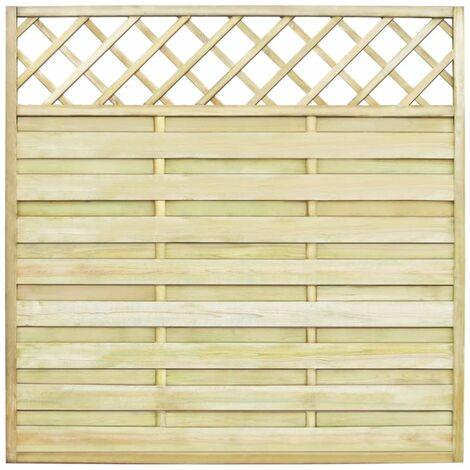 VXL Panel Valla De Jardín Con Enrejado Madera 180X180 Cm