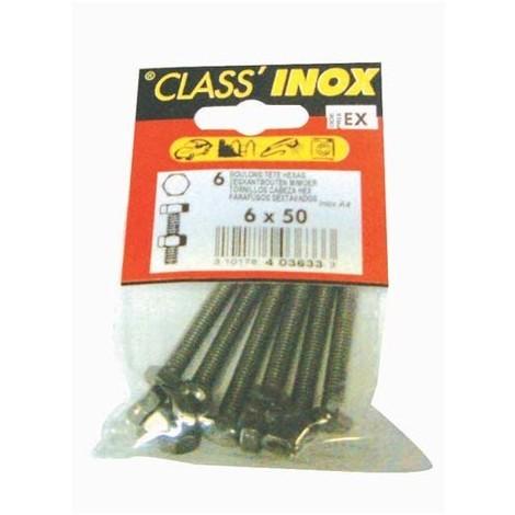 VYNEX - Boulon à tête hexagonale - inox - A4 - 6x30 mm