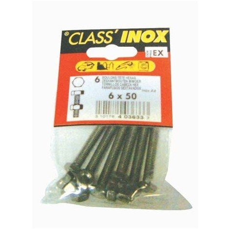 VYNEX - Boulon à tête hexagonale - inox - A4 - 6x50 mm