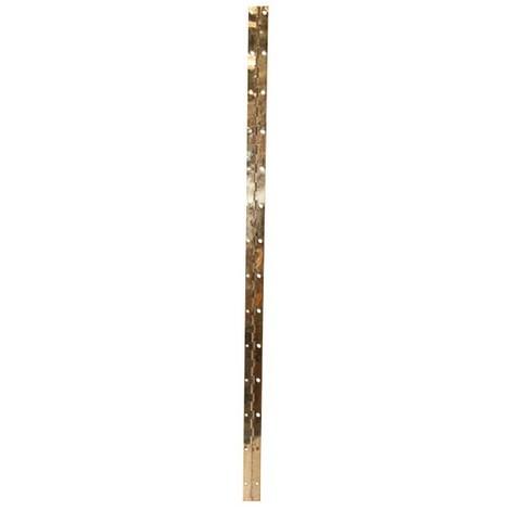 VYNEX - Charnière piano - acier laitonné - 32x960 mm