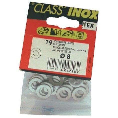 VYNEX - Rondelle - plate étroite - inox - A4 - D: 6 mm