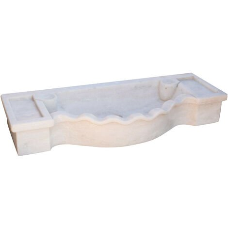 W114 xDP45xH18 cm sized white marble made wash basin