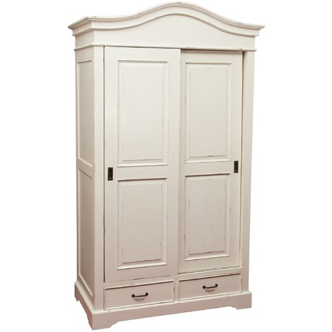 W123xDP65xH211 cm solid wood white finish wardrobe