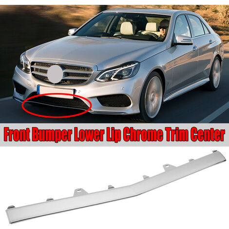 W212 Chrome Car Front Bumper Lower Lip Splitter Grille Trim For Mercedes For Benz E-Class W212 E200 E220 E250 E300 E350 2014-16