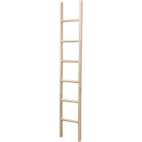 W36xDP5,5xH200 cm Made in Italy wood made ladder