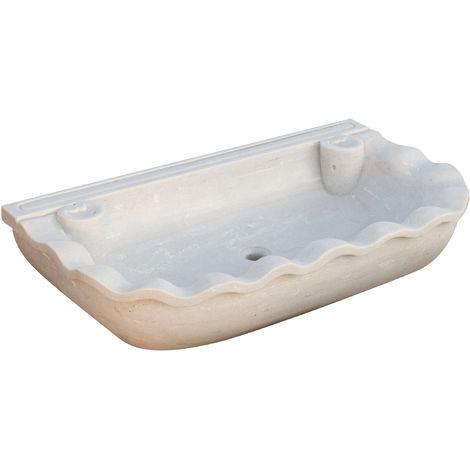 W95xDP54xH17 cm sized white marble sink