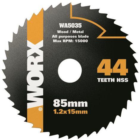 WA5035 - Disco multiusos HSS Worxsaw 85mm 44T
