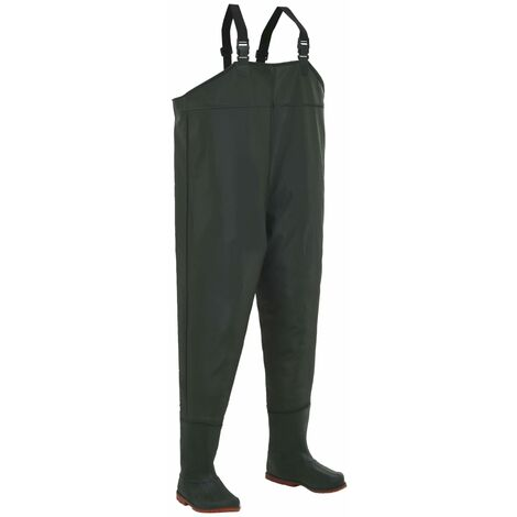 Wading Pants with Boots Green Size 44
