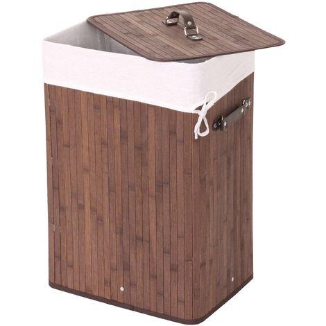 Wäschekorb HHG-146, Laundry Wäschebox Wäschesammler Wäschebehälter Wäschetonne, 61x43x32cm 70l ~ schwarz