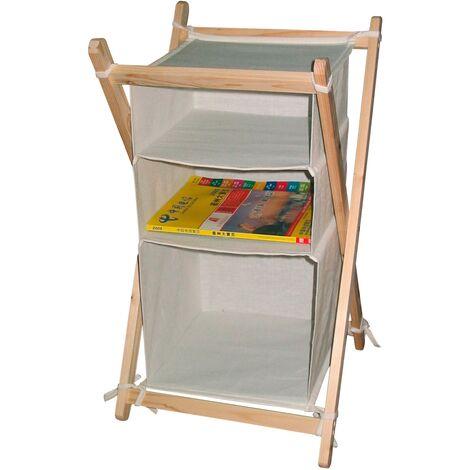Wäscheregal mit 3 Fächern Wäschesortierer Wäschesammler Trennstation für Wäsche