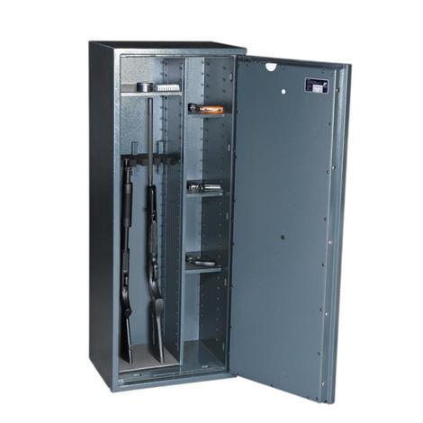 Waffenschrank Börde Kombi 5 E Stufe 0 mit Elektronik und Regalteil Grad 0