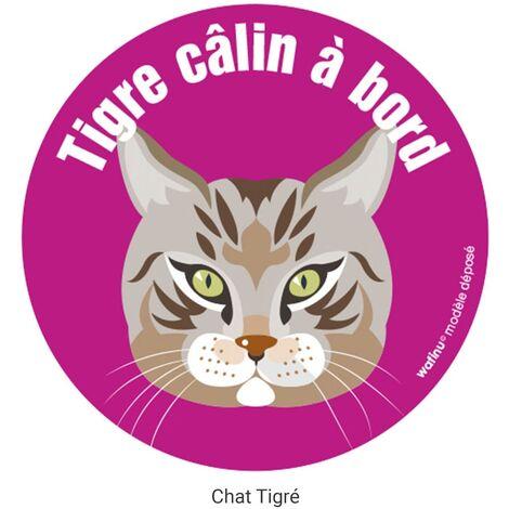 Wafinu Autocollant Chat, Chat tigré européen