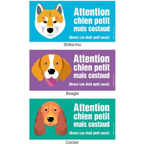 8 vinyle auto-adhésif brillant chiens toute Race mesure App 7.5 cm