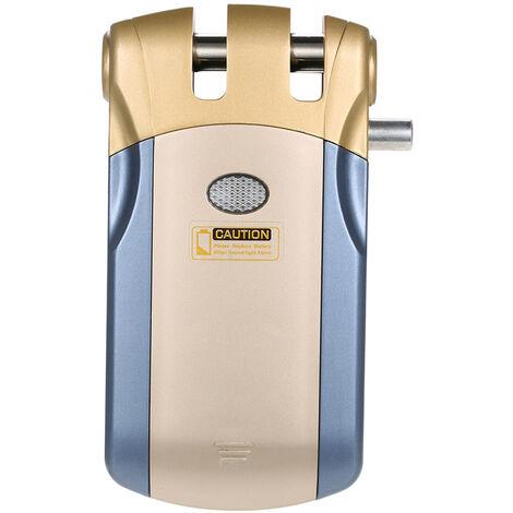 Wafu, Inalambrico Bloqueo de control remoto, con 4 teclas de control remoto, azul + Oro