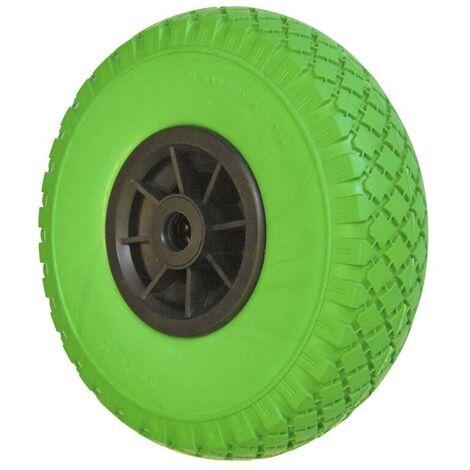 WAGNER System Bande de roulement anti-crevaison - Roue brouette increvable - vert - caoutchouc
