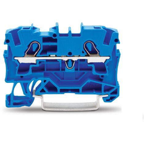 Wago 2004-1204 Borne de passage pour 2 conducteurs - Topjob s Série 2004 - 4 mm² - Bleu