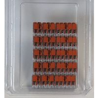 Wago 221 Klemmen SET 10x 221-412, 221-413, 221-415   Kabel Verbinder in der wiederverschließbaren Box - Original WAGO: 10x412. 10x414. 10x415