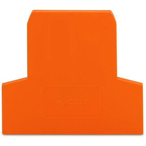 Wago 281-309 Plaque d'extrémité et intermédiaire - épaisseur 2.5 mm