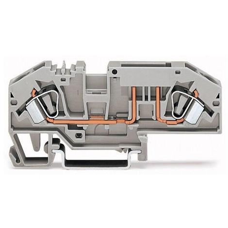 Wago 282-696 Bloc de jonction à fusible 2 voies 24-10AWG 6mm² 30A - Maintenu