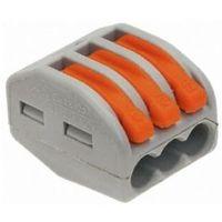 x50 Bornes de connexion rapide 4 entr/ées pour fil rigide 1 /à 2,5 mm