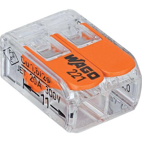 Wago-abrazadera compacta 2 x 0.2-4qmm transparente