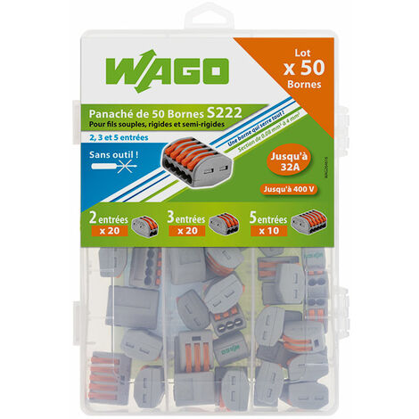 WAGO - Maleta 50 Borna de conexión para cable flexibles y rígidos