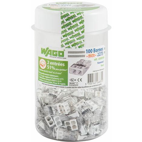 Wago Pot De 100 Mini Bornes De Connexion Automatique 2 Entrães S2273