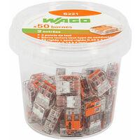 Wago - Pot de 50 bornes de connexion automatique 2 entrées S221