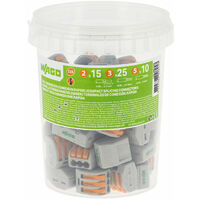 WAGO - Pot de 50 bornes de connexion automatique S222 2,3 et 5 entrées