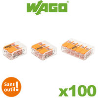 Wago - Pot panaché de 100 bornes de connexion automatique 2, 3 et 5 entrées S221