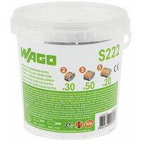 WAGO - Seau de 100 bornes de connexion automatique S222 2,3 et 5 entrées