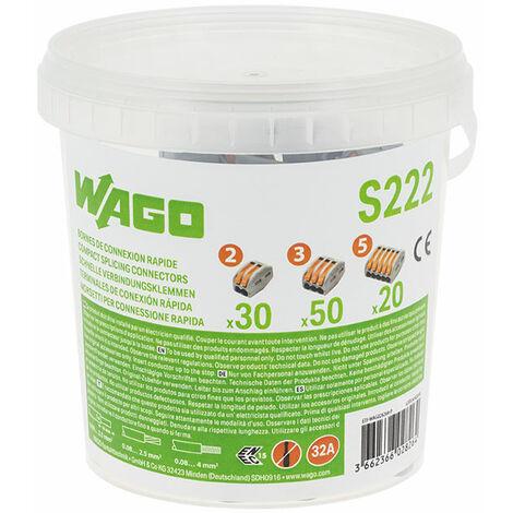 WAGO Pot de 30 bornes de connexion automatique S222 2,3 et 5 entr/ées