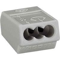 Wago Verbindungsdosenklemme, 3 x 0,75-1,5 mm², grau